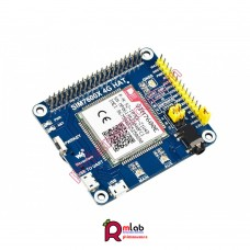 SIM7600E LTE Cat-1 HAT for Raspberry Pi, 3G / 2G / GNSS as well, for Southeast Asia, West Asia, Europe, Africa