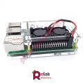 Vỏ hộp Mica có quạt đôi dành cho Pi 4 (SP36)