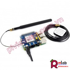 SIM7600E-H 4G/3G/2G/GSM/GPRS/GNSS HAT for Raspberry Pi, LTE CAT4, for Southeast Asia, West Asia, Europe, Africa
