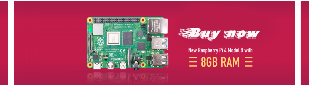 New 8GB Raspberry Pi 4
