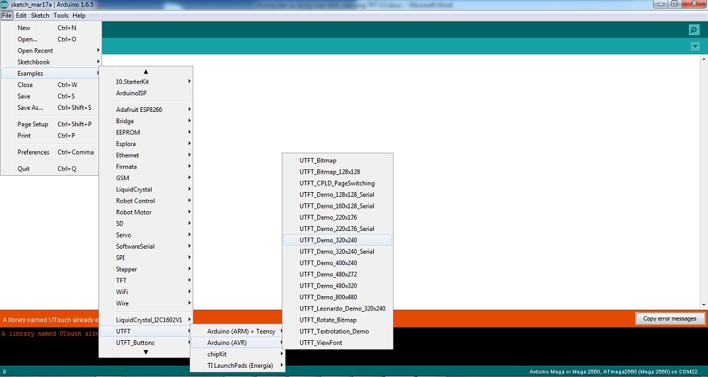 Hướng dẫn lập trình màn hình cảm ứng TFT 3 2inch và Arduino