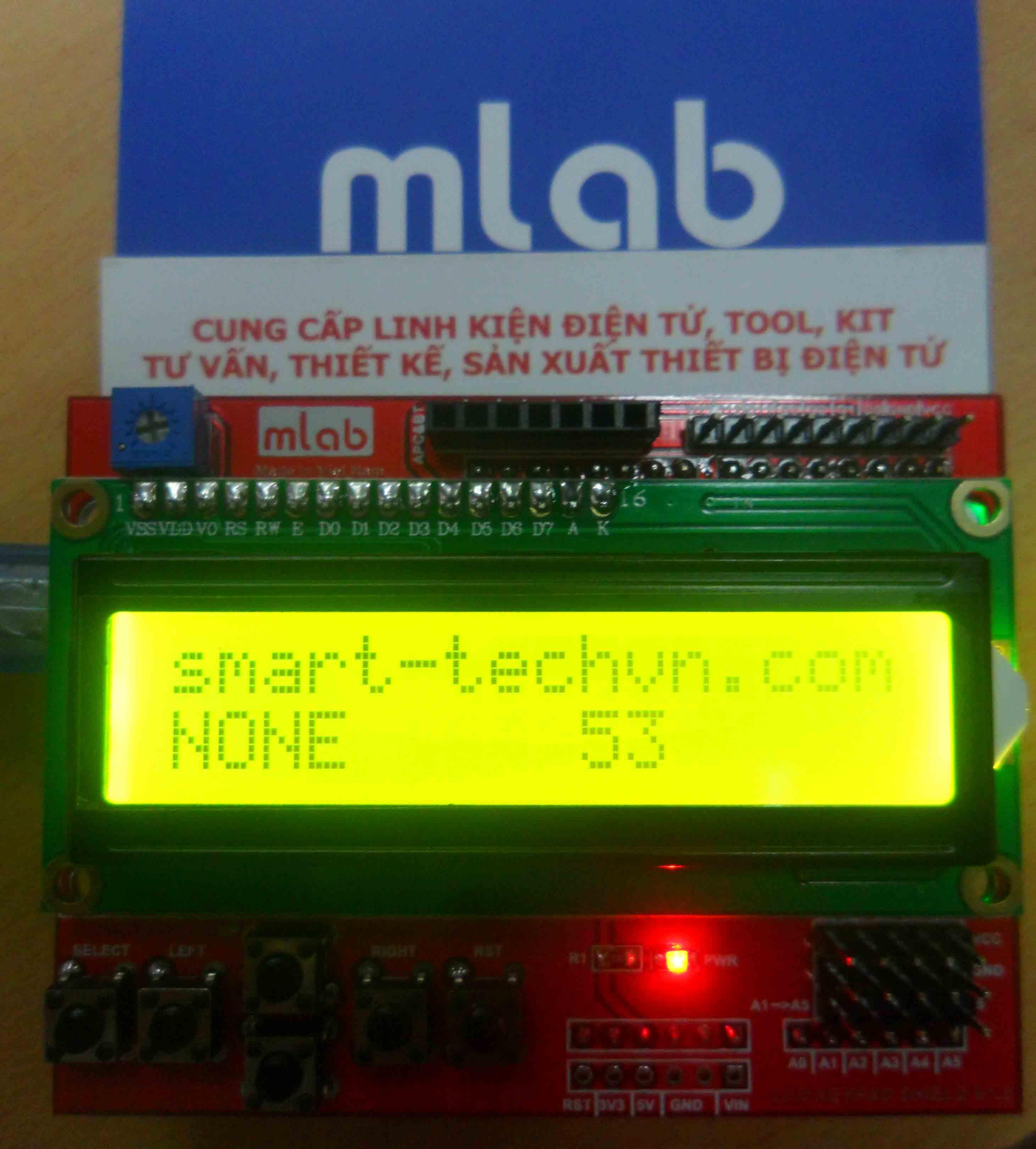 Hướng dẫn sử dụng LCD Keypad Shield với arduino (MLAB)